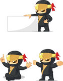 Ninja Customizable Mascot 13. A vector set of ninja in several poses. Drawn in cartoon style, this vector is very good for design that need ninja element/mascot Royalty Free Stock Image