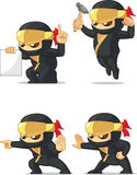 Ninja Customizable Mascot 4 Stock Photography