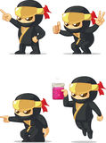 Ninja Customizable Mascot 5 Royalty Free Stock Photos