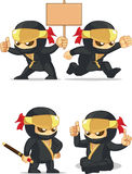 Ninja Customizable Mascot 6 Royalty Free Stock Photos