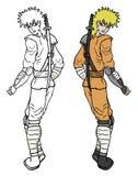 Ninja de couleur Photo libre de droits