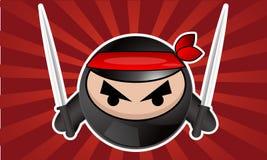 Ninja de dessin animé image stock