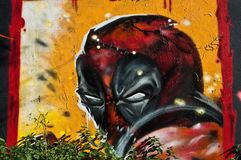 Ninja de graffiti Photo stock