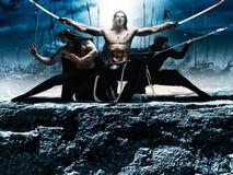 Ninja de la batalla de la fantasía de la foto Foto de archivo