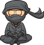 Ninja del fumetto Immagini Stock