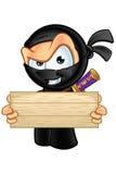 Ninja di sguardo sornione Character illustrazione vettoriale