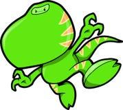 Ninja Dinosaur Vector Illustration Stock Images
