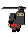 Ninja do Blockhead Imagem de Stock Royalty Free
