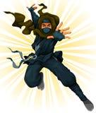 Ninja dos desenhos animados Fotos de Stock Royalty Free