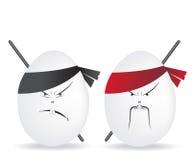 Ninja eggs Abbildung Stockfoto