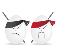 Ninja eggs illustration Stock Photo