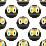 Ninja emoticon wzór Zdjęcia Stock