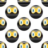 Ninja-Emoticonmuster Stockfotos