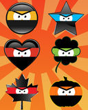 Ninja Emoticons Stock Foto's