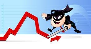 Ninja en asunto stock de ilustración