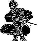 Ninja fighter - vector illustration. Vinyl-ready. Royalty Free Stock Image