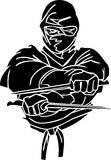 Ninja fighter - vector illustration. Vinyl-ready. Ninja fighter - vector EPS illustration. All vinyl-ready Stock Images