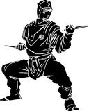 Ninja fighter - vector illustration. Vinyl-ready. Stock Photos