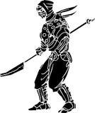 Ninja fighter - vector illustration. Vinyl-ready. Stock Photo