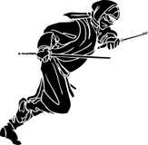 Ninja fighter - vector illustration. Vinyl-ready. Stock Image