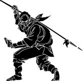 Ninja fighter - vector illustration. Vinyl-ready. Ninja fighter - vector EPS illustration. All vinyl-ready Royalty Free Stock Photography