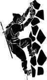 Ninja fighter - vector illustration. Vinyl-ready. Royalty Free Stock Photography