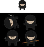 Ninja fighters vector Stock Photos