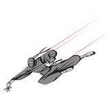 Ninja flying with Sword. Illustration of ninja fighter flying with sword Stock Photos