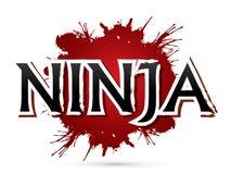 Ninja Font design Royaltyfri Bild