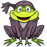 Ninja Frog Royalty Free Stock Photo