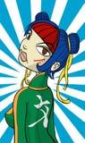 ninja GAL χαρακτήρα κινουμένων σχεδίων απεικόνιση αποθεμάτων