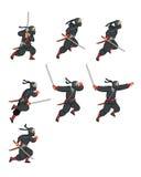 Ninja Game Sprite Arkivfoto