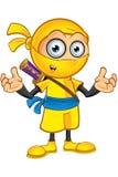Ninja giallo Character illustrazione vettoriale