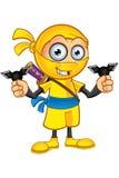 Ninja giallo Character royalty illustrazione gratis