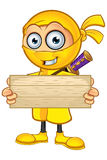 Ninja giallo Character illustrazione di stock