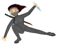 Ninja girl Stock Photo