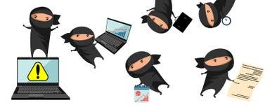 Ninja help in business Stock Photography