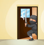 Ninja at home Royalty Free Stock Images