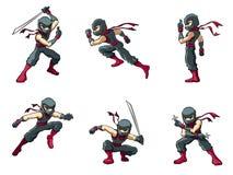 Ninja i handlingar 01 Arkivbild