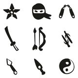 Ninja Icons Freehand Fill Photos libres de droits