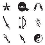 Ninja-Ikonen Lizenzfreie Stockfotos