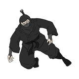 Ninja illustration Royalty Free Stock Image