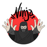 Ninja illustration Stock Image