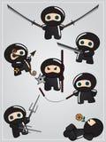 ninja inkasowa broń ilustracja wektor