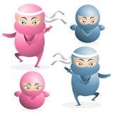 Ninja Karikaturvektor Lizenzfreie Stockfotos