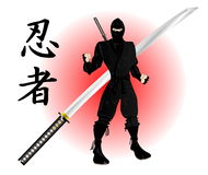 Ninja with katana Stock Photos