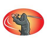 Ninja with katana Stock Photography