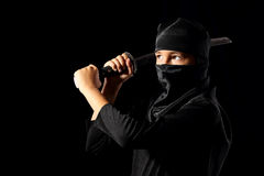 Ninja kid Stock Images