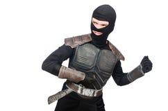 Ninja with knife isolated Stock Photography
