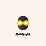 Ninja logo, ikona Fotografia Royalty Free